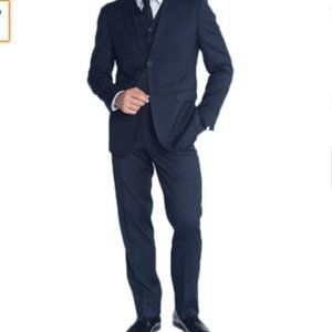 😀Braveman Men's Slim Fit Suit 3 Piece 40Rx32W